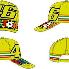 VR46 VALENTINO ROSSI CAP YELLOW STRIPES