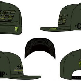 VR46 CAP ROSSI ADJ CAMP MILITARY