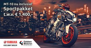 MT-10 met gratis sportpakket - Gebben Motoren