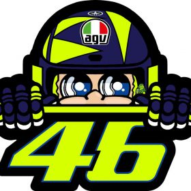 VR46 VALENTINO ROSSI MAGNEET CUPOLINO