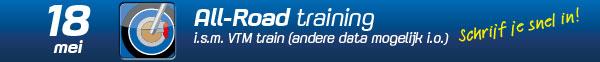 All-Road training 18 mei 2020 Gebben Motoren VTM Train