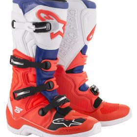 ALPINESTARS CROSSLAARS TECH-5 ROOD-BLAUW-WIT