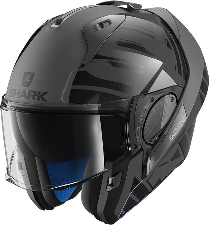 SHARK HELM EVO-ONE 2 LITHION DUAL ANTRACIET