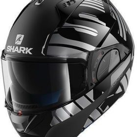 SHARK HELM EVO-ONE 2 LITHION DUAL ZWART ZILVER
