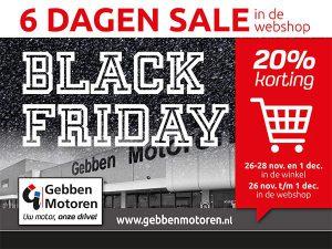 Black Friday Saledagen bij Gebben Motoren